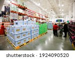 Small photo of Nanchang, China - February 14, 2021: Chinese customers buy imported products from all over the world at a Walmart Sam's Club. Sam's is one of the largest members-only stores in the world.