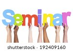 multiethnic arms raised holding ... | Shutterstock . vector #192409160