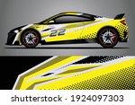 racing car decal wrap design.... | Shutterstock .eps vector #1924097303