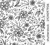seamless pattern with hand... | Shutterstock .eps vector #1924097936
