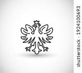 white eagle   national symbol...   Shutterstock .eps vector #1924100693