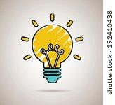 bulb design over brown... | Shutterstock .eps vector #192410438