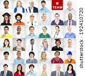 portrait of multiethnic mixed... | Shutterstock . vector #192410720