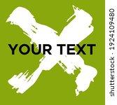 vector cross shape on green.... | Shutterstock .eps vector #1924109480