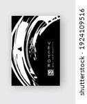 white ink brush stroke on black ... | Shutterstock .eps vector #1924109516