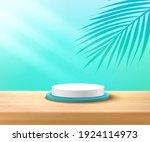 modern white  blue cylinder...   Shutterstock .eps vector #1924114973