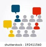 teamwork design over gray... | Shutterstock .eps vector #192411560