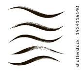 makeup strokes  set of mascara... | Shutterstock .eps vector #1924116140