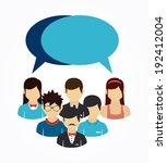 teamwork design over white...   Shutterstock .eps vector #192412004