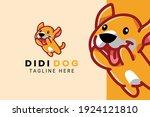cute kawaii puppy dog mascot... | Shutterstock .eps vector #1924121810