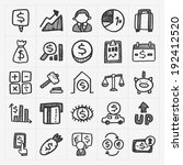 doodle financial icons | Shutterstock .eps vector #192412520