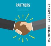 handshake  successful deal ... | Shutterstock .eps vector #1924125926
