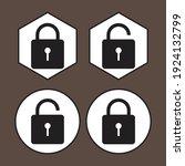 padlock icon. great vectors for ... | Shutterstock .eps vector #1924132799