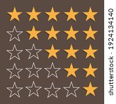 star rating icon. vector great... | Shutterstock .eps vector #1924134140