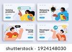 set of presentation slide... | Shutterstock .eps vector #1924148030