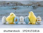 Blue  Yellow  White Eggs In The ...