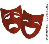 Theater Mask Vector Icon....