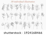 continuous line drawing set of... | Shutterstock .eps vector #1924168466