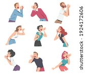 people characters shouting and...   Shutterstock .eps vector #1924172606