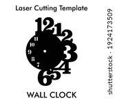 laser cutting wall clock for... | Shutterstock .eps vector #1924173509