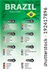 brazil football  soccer games ... | Shutterstock .eps vector #192417896