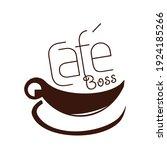 cafe shop logo icon template... | Shutterstock .eps vector #1924185266