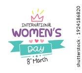 international women's day... | Shutterstock .eps vector #1924186820