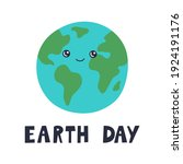 earth day banner  cute happy... | Shutterstock .eps vector #1924191176