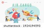 air cargo transportation ... | Shutterstock .eps vector #1924194593