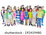 Group Of Children Standing In...