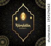 ramadan kareem design...   Shutterstock .eps vector #1924196063
