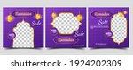 social media post template set...   Shutterstock .eps vector #1924202309