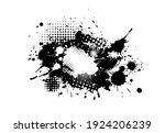 frame of blots. grunge design... | Shutterstock .eps vector #1924206239