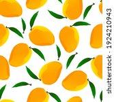 seamless pattern  fresh fruits  ... | Shutterstock .eps vector #1924210943