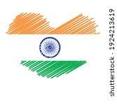 flag of india   flag vector   ... | Shutterstock .eps vector #1924213619