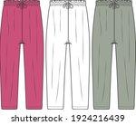 women's pants. trousers fashion ...   Shutterstock .eps vector #1924216439