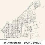black simple detailed street... | Shutterstock .eps vector #1924219823