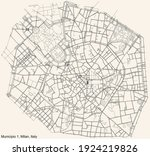 black simple detailed street... | Shutterstock .eps vector #1924219826