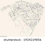 black simple detailed street... | Shutterstock .eps vector #1924219856