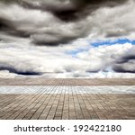 paving stone floor with cloud... | Shutterstock . vector #192422180