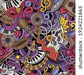 music hand drawn doodles... | Shutterstock .eps vector #1924221863