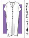 dress  fashion flat sketches ... | Shutterstock .eps vector #1924225730