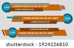 set futuristic lower thirds set ... | Shutterstock .eps vector #1924226810