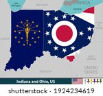 vector of indiana and ohio... | Shutterstock .eps vector #1924234619