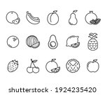 fruits flat icon. pictogram for ... | Shutterstock .eps vector #1924235420