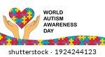 autism awareness month. banner. ... | Shutterstock .eps vector #1924244123