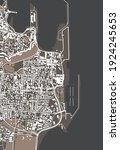 vector map of the city of... | Shutterstock .eps vector #1924245653