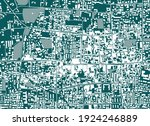vector map of the city of... | Shutterstock .eps vector #1924246889