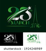23 march pakistan day ... | Shutterstock .eps vector #1924248989