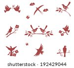Vector Silhouettes Of Birds On...